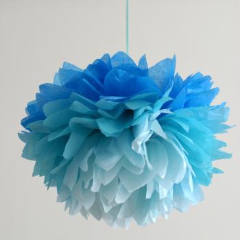 Pompom, ombre kék