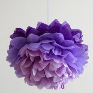 Pompom, ombre lila