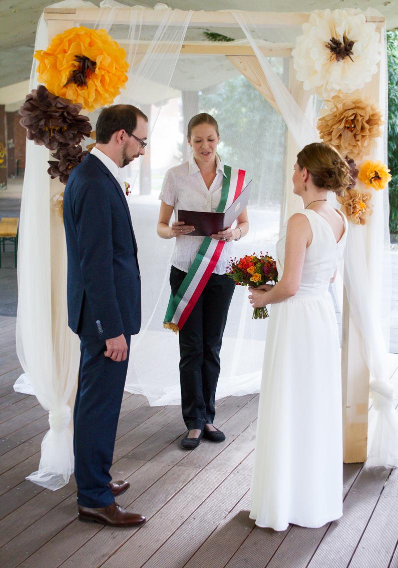 őszi esküvői dekoracio