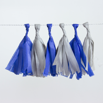rojtos girland, kék-szürke