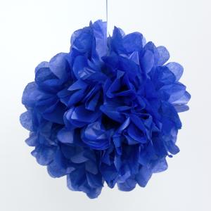 selyempapír pompom kék