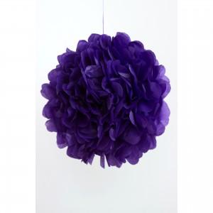 selyempapír pompom lila