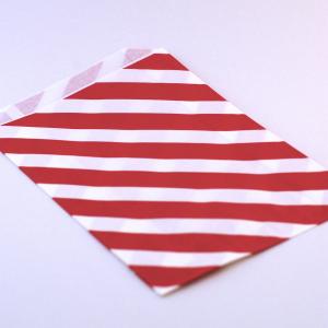 papírzacskó, piros harántcsíkos