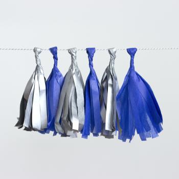 rojtos girland, kék-ezüst