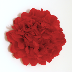 selyempapír pompom piros