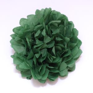 selyempapír pompom sötétzöld