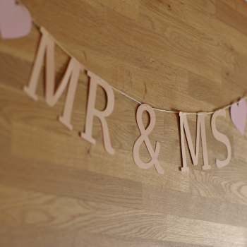 Felirat girland - Mr&Ms