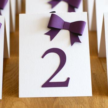 Esküvői asztaljelölő számtábla