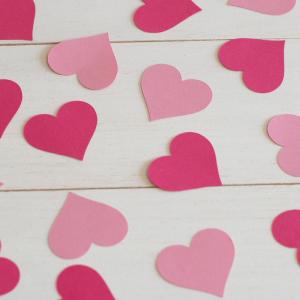 szívkonfetti, pink mix