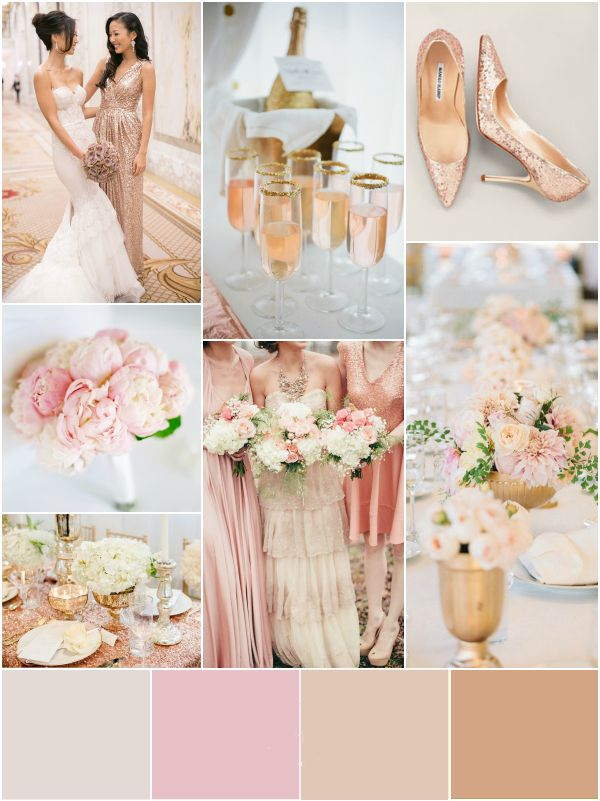 pasztell arany esküvő