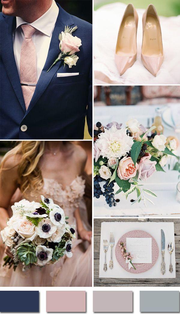 pasztell sötétkék esküvő