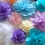 selyempapír virág