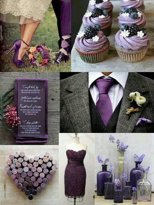 esküvő, lila