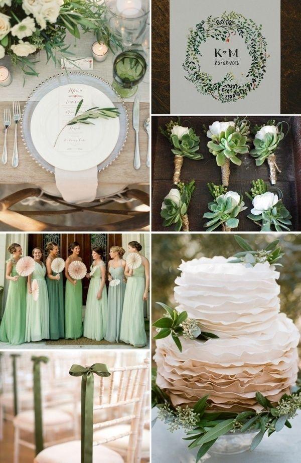 esküvő, zöld