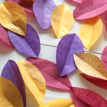 selyempapír levél, őszi mix