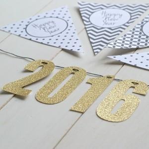 2016 glitter arany felirat