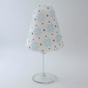 borospohár lámpaernyő, norvég mintás